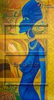 Handmade Decoration African Women Oil Painting