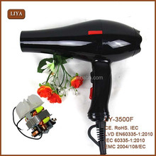 Alibaba Most Competitive LY-3500F salon blower 2200 watts hair dryer + 2 wind mouth