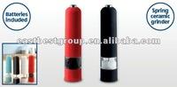 Plastic soft touch salt & pepper mill commercial corn grinder machine
