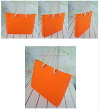 Fashion women sweet jelly silicone tote beach bag for lady