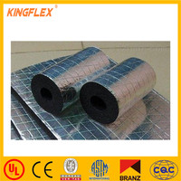 Rubber Foam Board Insulation Backed With Aluminium Foil / cooler insulation material