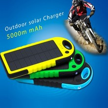 Outdoor sports hot products 5000mAh solar usb stick mobile phone charger