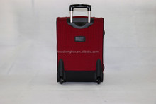 red polyester suitcase strong suitcase trolley luggage