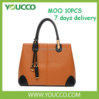 Mature women no brand real Leather ladies in pakistan polyurethane handbag