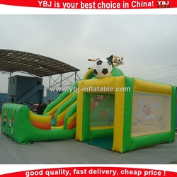 YBJ nice foot ball theme inflatable sports/inflatable sport dome