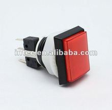 rectangle red plastic push button switch electric pushbutton switch with LED light Emergency button