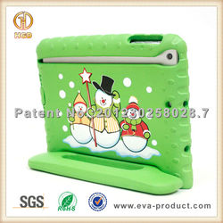 Christmas decorative snowman beautiful case for ipad mini with stand