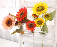 NZ-8046 2015 new style product high simulation artificial sunflowers