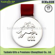 custom metal horse shaped award gold silver bronze medal with ribbon