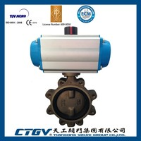6inch Pneumatic Lug Concentric Butterfly Valve For Sea Water