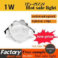 1W New design Crystle Home Decor Led Downlight High Power 1W crystle Dimmable led downlight