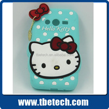 Hello kitty silicone case for iPhone 5 iphone 6 silicon case for SAMSUNG HTC and other smartphones
