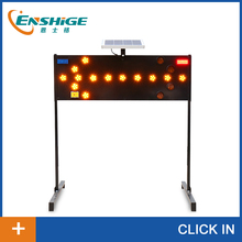 Factory direct LED solar traffic sign with bracket