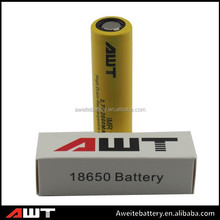 High quality AWT 18650 2000mah 30amp battery lithium ion battery electric cars