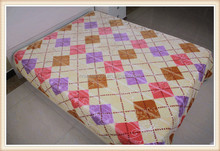 Super soft raschel weaving 100% polyester blanket