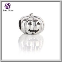 holiday silver charms s925 solid silver halloween pumpkin toy pendant jewelry