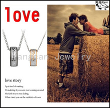 Fashion classic young lovers stainless steel rings couple rings pendant necklace