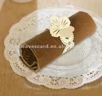 Plain Dyed Fashion Design Paper Napkin Rings