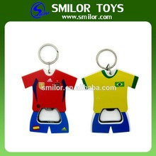 Manufacture Wholesale Creative Recycled T Shirt Key Chain Bottle Opener