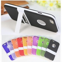 "For iphone 6 case Frosted Soft TPU silicone stand phone accessory for iphone 6 4.7"", for iphone case 10 colors in stock"