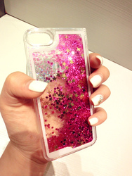 glitter liquid pouch for iphone shining cover for samsung case for huawei stock goods liquid moving star mobile cover
