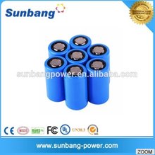 Hot sell 3.7v 5000mah 32600 special size used car battery