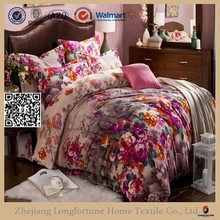 Manufactory walmart alibaba china home textile luxury printed four pieces sofa set bed