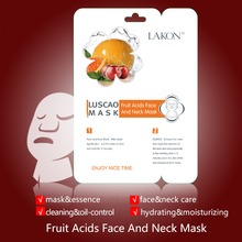 Peel off mask for moisture and curing acne with fruit acids face and neck mask