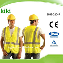 Meet ENISO20471 Newest style hot selling Good Quality Industrial Safety Products ,reflective safety vest with zipper closure