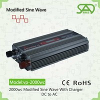 Best price of 2000w solar power system 24v 220v 85% efficiency with 15A charger current optional modified sine wave with CE ROH
