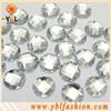 Clear round sew on flat back acrylic rhinestones