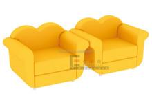 Yellow Modern Cute Design Kindergarten Kids Leather Children Foam Sofa