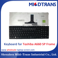 China distributor Price new A SP layout with frame laptop Keyboard for Toshiba A660
