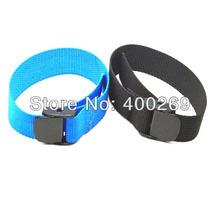 TOP-quality go pro accessories Nylon Belt for Go pro Heros 4/3+/3 Wifi Remote, Wrist band Black/ Blue ADK-GP95