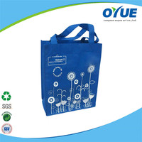 Popular Resuable promotional purple non woven shopping bag