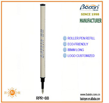 China manufacturer roller pen refill, eco-friendly plastic, 88mm long, RPR-88
