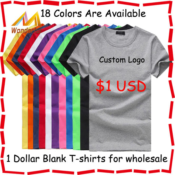 100 cotton wholesale blank t shirts good quality solid for Bulk quality t shirts