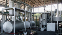 2015 used engine oil crude oil refining to diesel distillation plant machine with catalytic tower