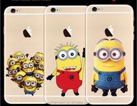 2015 hot selling the Minions pattern soft TPU mobile phone back cover case for iphone 5 5s 6 6s 6plus CO-TPU-4006