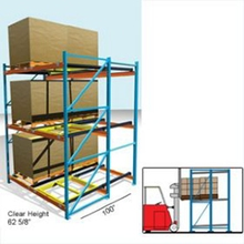 Jracking selective highly effective space use metal push back rack