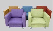 Multifunction Microfibre Fabric Single Sofa Chair & Bed