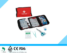 First aid kit/bag hot sale for 2015 red color sports first-aid kit