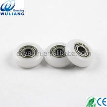 4x14.5x5mm nylon roller wheel small nylon pulley ball bearing coated with nylon
