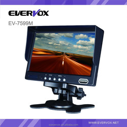 7 inch stand alone car monitor with 2 way video input