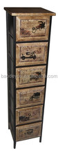 antique Chinese wooden mdf vitrine for home decor, vintage industrial cabinet