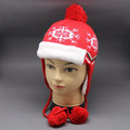 2015 nuevo estilo de diseño de piel de invierno SLOUCH BEANIE sombreros con la piel de POM cuerdas