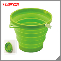 Portable Space Saver Outdoor New Collapsible silicon Round Water Bucket Container
