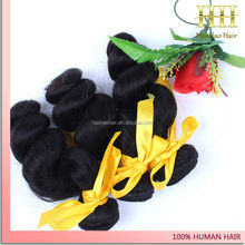 High quality unprocessed top grade 6a 100% virgin malaysian loose wave hair weaving weft