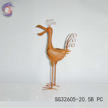 unique metal products of nautral rusty metal bird for home decor