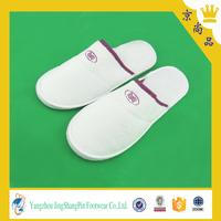 cheap white velvet hotel bathroom Disposable slipper for spa